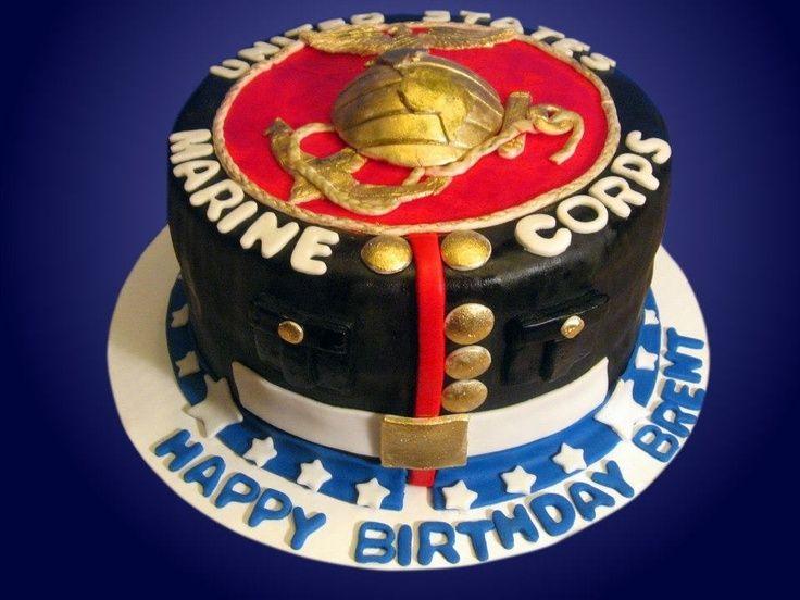 marine themed cakes Marine corps theme birthday cake by Jaklins