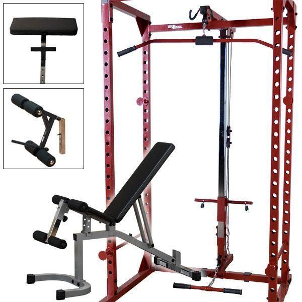 rack lat bench package fitness leg attachment weight attach fitnessfactory powerline preacher