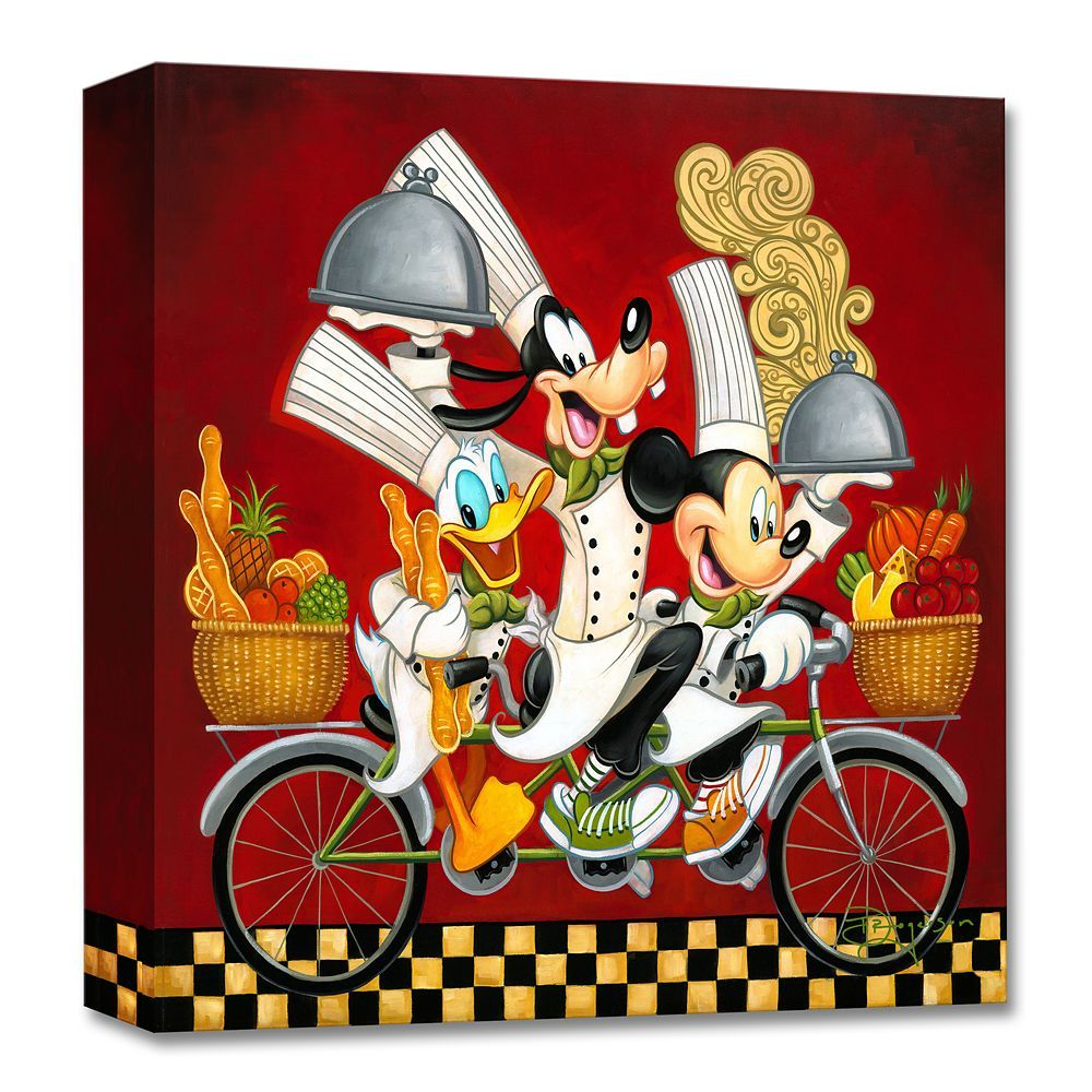Mickey Mouse And Friends Wheeling With Flavor Giclee On Canvas By Tim Rogerson Shopdisney Disney Fine Art Disney Art Mickey Mouse And Friends