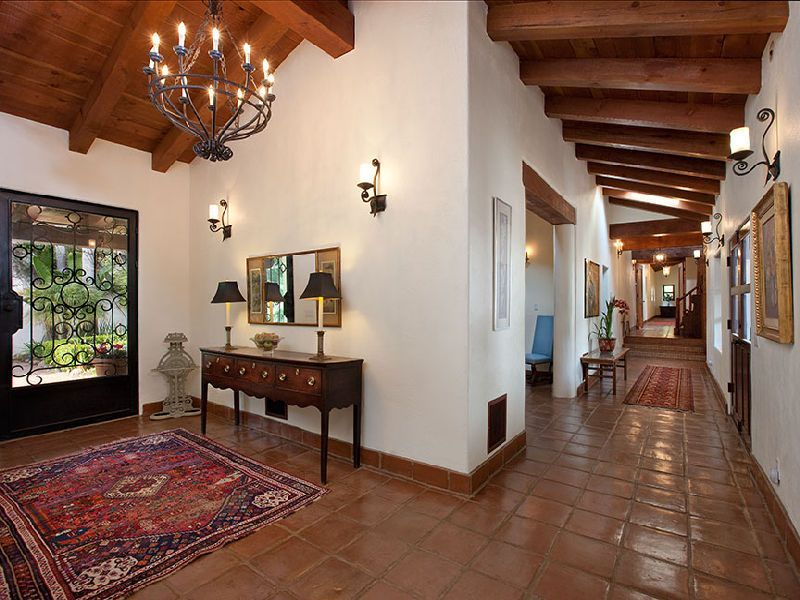 beautiful spanish hacienda in santa barbara this spanish mediterranean style home in santa barbara california enjoys mountain views in a quiet setting - Spanish Home Interior Design