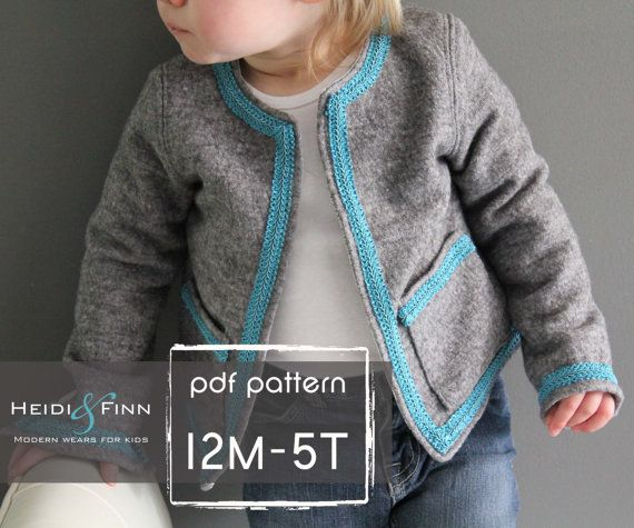 NEW Coco Jacket Pattern And Tutorial 12M-5T Holiday Jacket