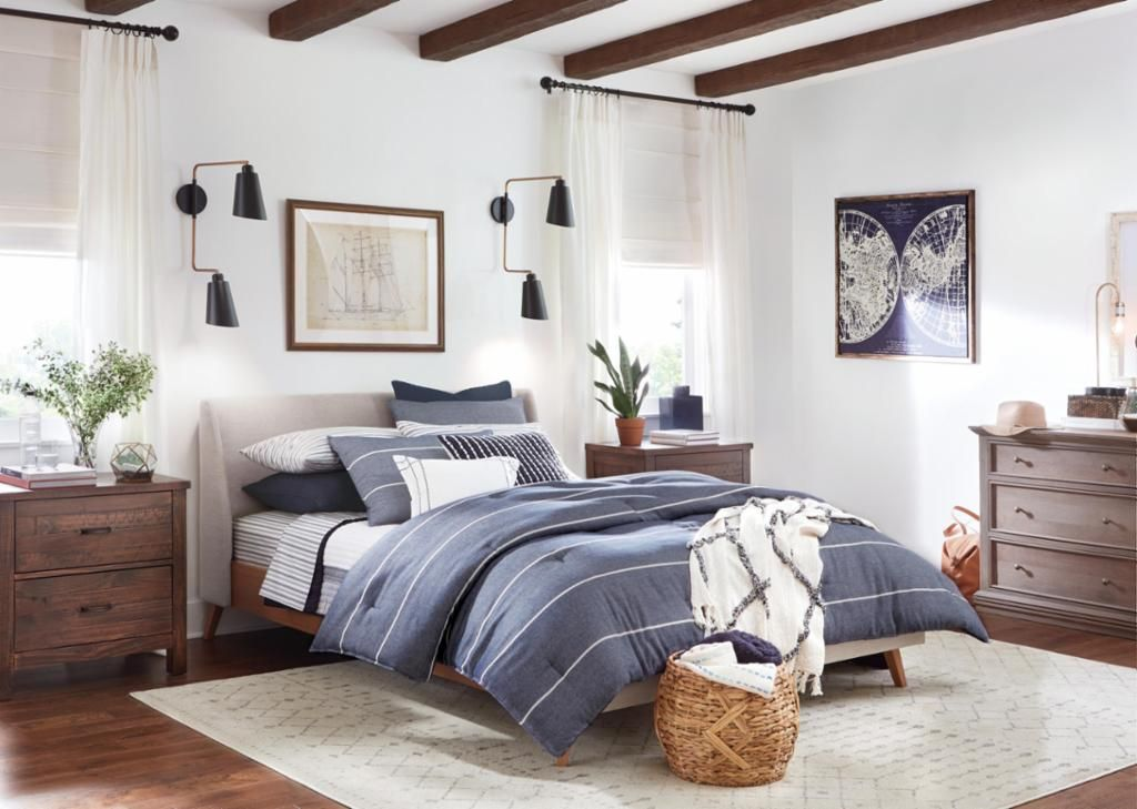 Shop Our Bedroom Department To Customize Your Bold Bungalow Bedroom Today At The Home Depot Bedding And Bath Bungalow Dining Room Bungalow Living Rooms