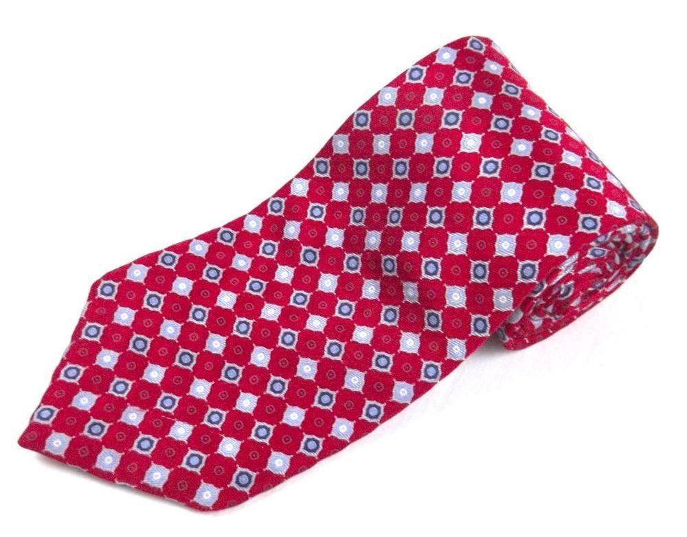 1d8c2c2205a8 Jos A Bank Necktie Red Blue Multi-Color Geometric Mens Classic Silk Tie  #JosABank #NeckTie