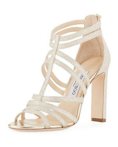 9290df4980d3 JIMMY CHOO SELINA GLITTER STRAPPY SANDAL.  jimmychoo  shoes ...