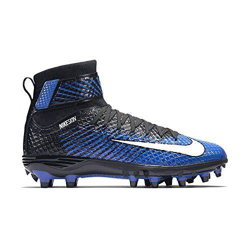 Nike LunarBeast Elite TD Football Cleats Royal Blue Black White Mens Size 13