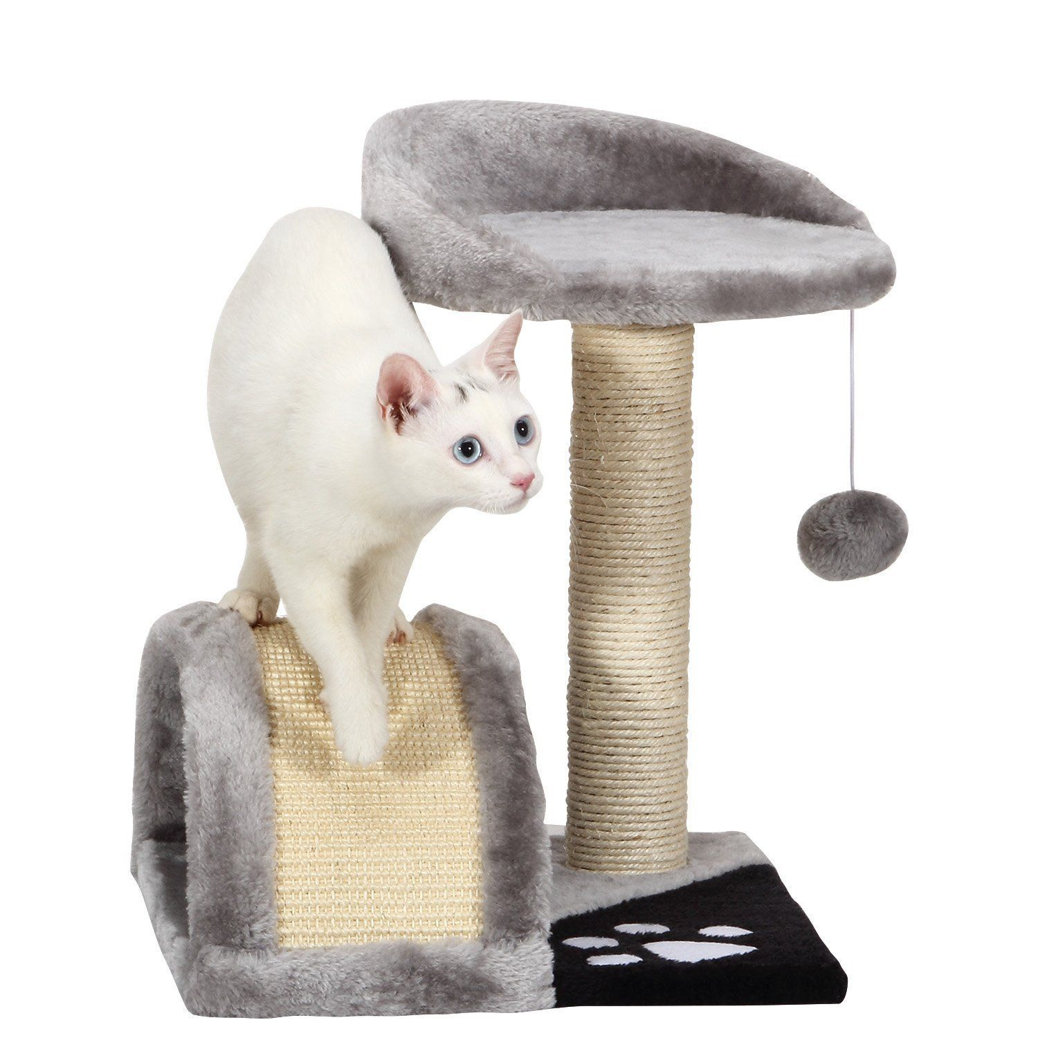 Ollieroo Small Cat Tree Sisal Scratching Post Furniture Playhouse Pet Bed Kitten Toy Cat Tower Condo For Kittens Mo Small Cat Tree Cat Tree House Kitten Toys