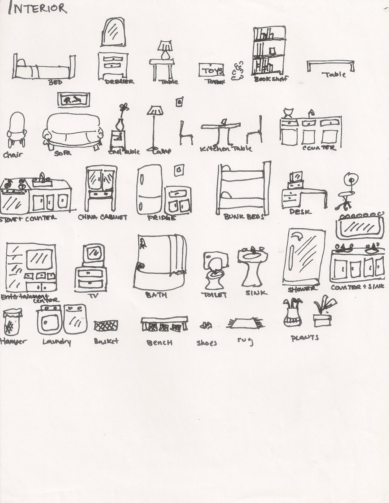 Interior Of A House Brainstorming Handout