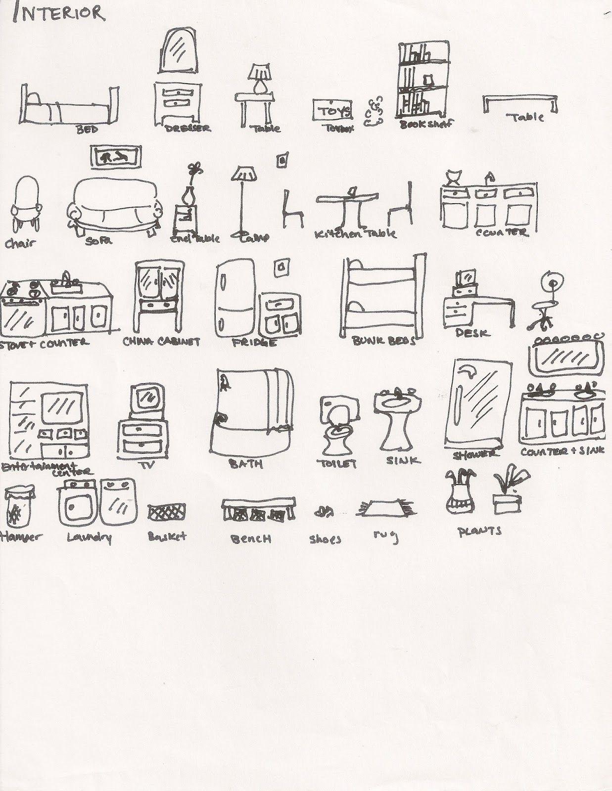 Interior Of A House Brainstorming Handout Handouts Art