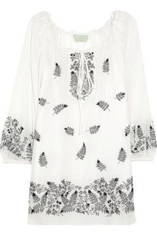 Theda Embroidered Silk Top.