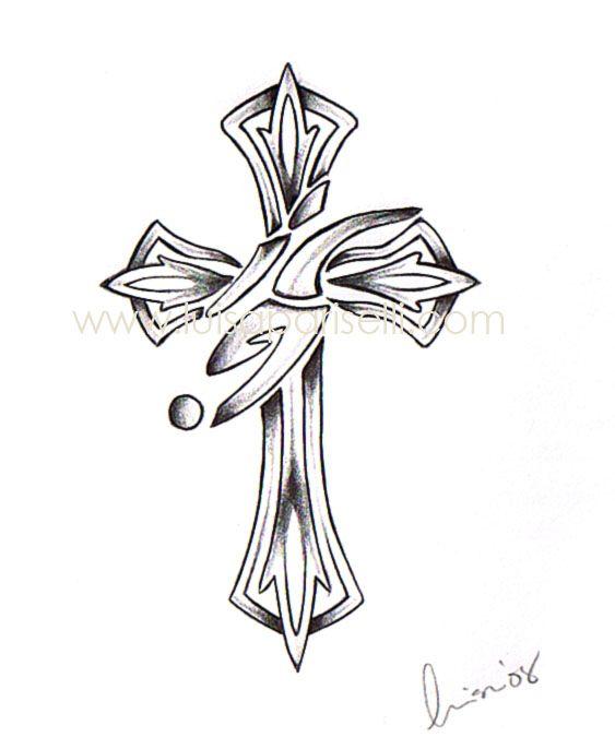 Soccer cross tattoos