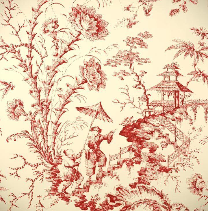 "Pillement Toile 15' L x 27"" W Wallpaper Roll Wallpaper"