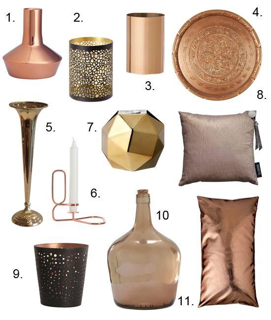 Shopping koper voor in huis koper pinterest koper for Interieur accessoires