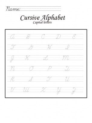 capital letters in cursive worksheet classroom language arts pinterest cursive. Black Bedroom Furniture Sets. Home Design Ideas