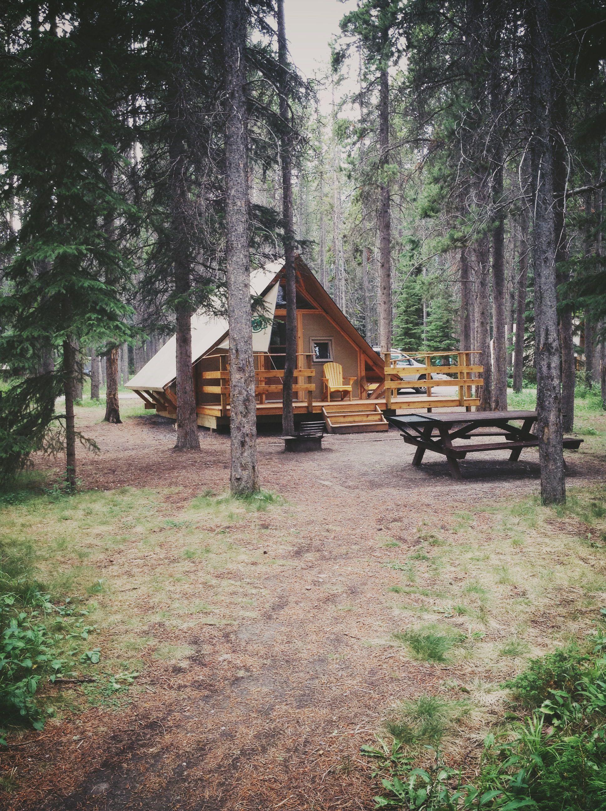 Otentik Campsite At Two Jack Lake Banff Colorado Homes Lake House Timber House