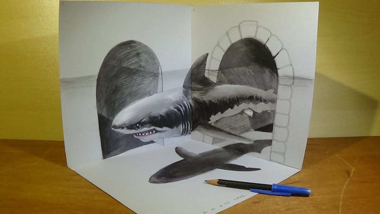 how to make a charcoal drawing look 3d