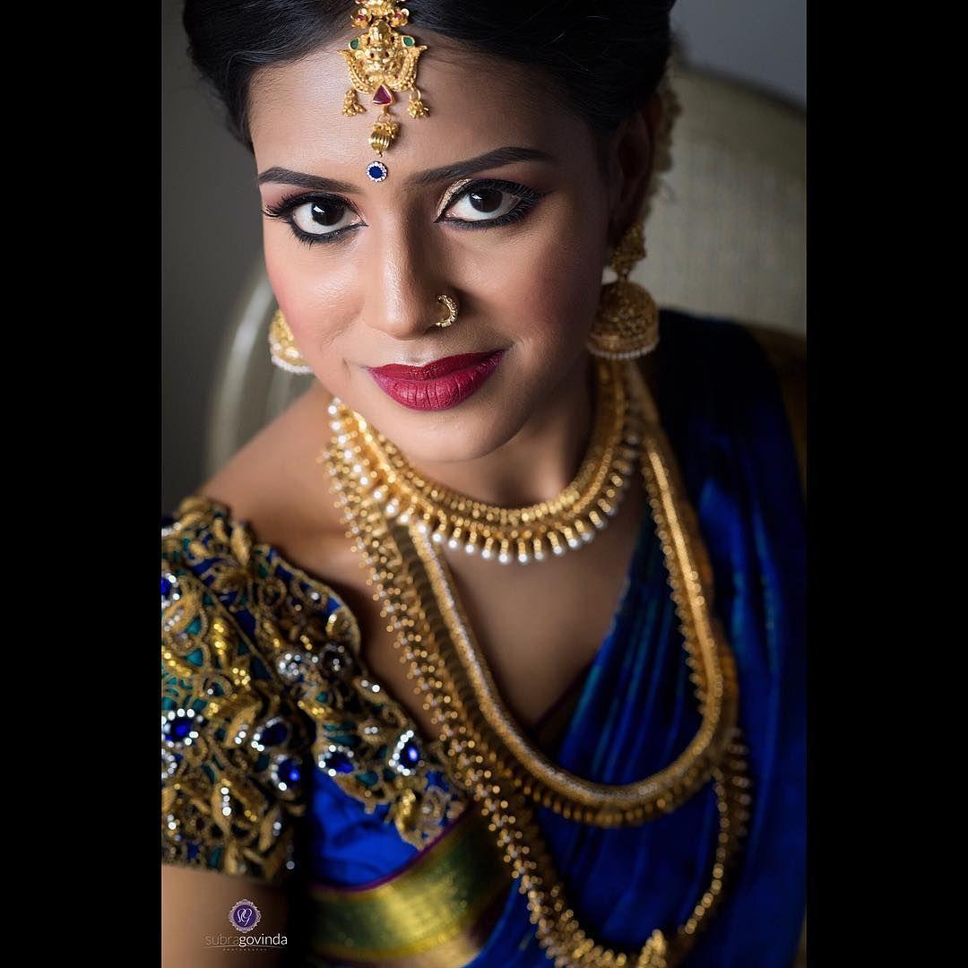 Lavanya on her wedding day . MUA mahes_mua