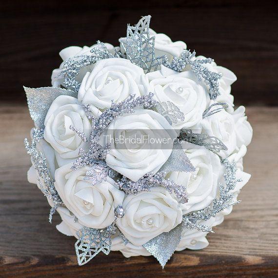 "Winter Wonderland"" small bridesmaid or Maid of Honor wedding bouquet ..."