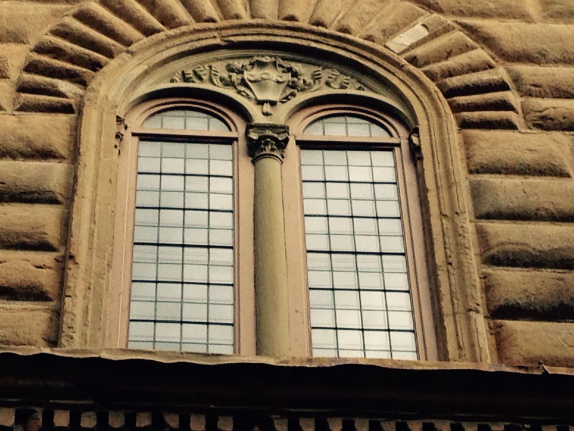 Love Italy: #Florence #Strozzi Palace - detail of the window with family coat of arms.