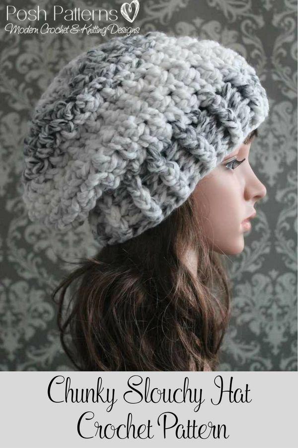 Slouchy Hat Crochet Pattern Crochet Pattern Crochet Hat Pattern