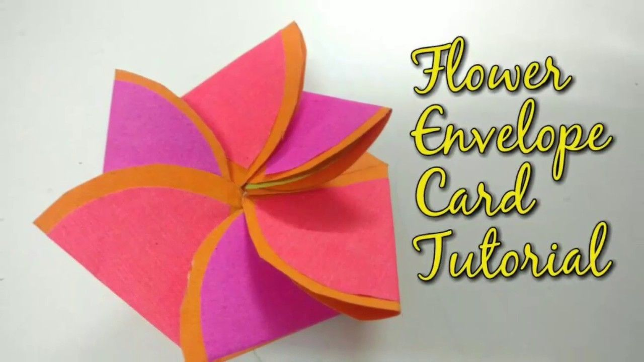 Paper Flower Envelope Card Tutorial For Scrapbook Paper