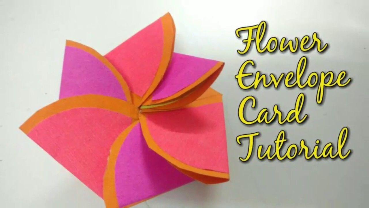Paper Flower Envelope Card Tutorial For Scrapbook How To Craftlas Scrapbook Paper Flowers Card Tutorial Paper Flowers