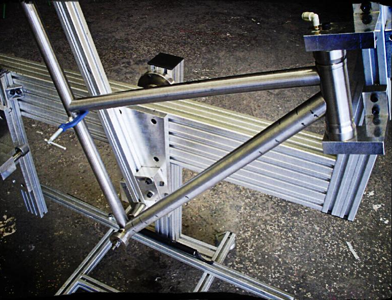 Home Made Frame Jig From Aluminum Extrusions Bicycle Frame Bike