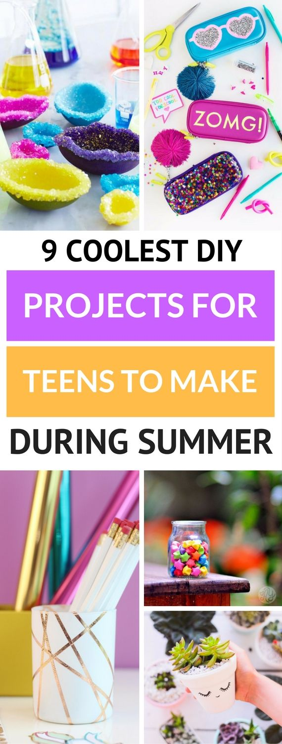 9 Coolest DIY Projects For Teens To Make During Summer - Diy crafts for teens, Diy summer crafts, Summer diy, Diy projects for teens, Cool diy projects, Diy for teens - Summer is almost here and what better way