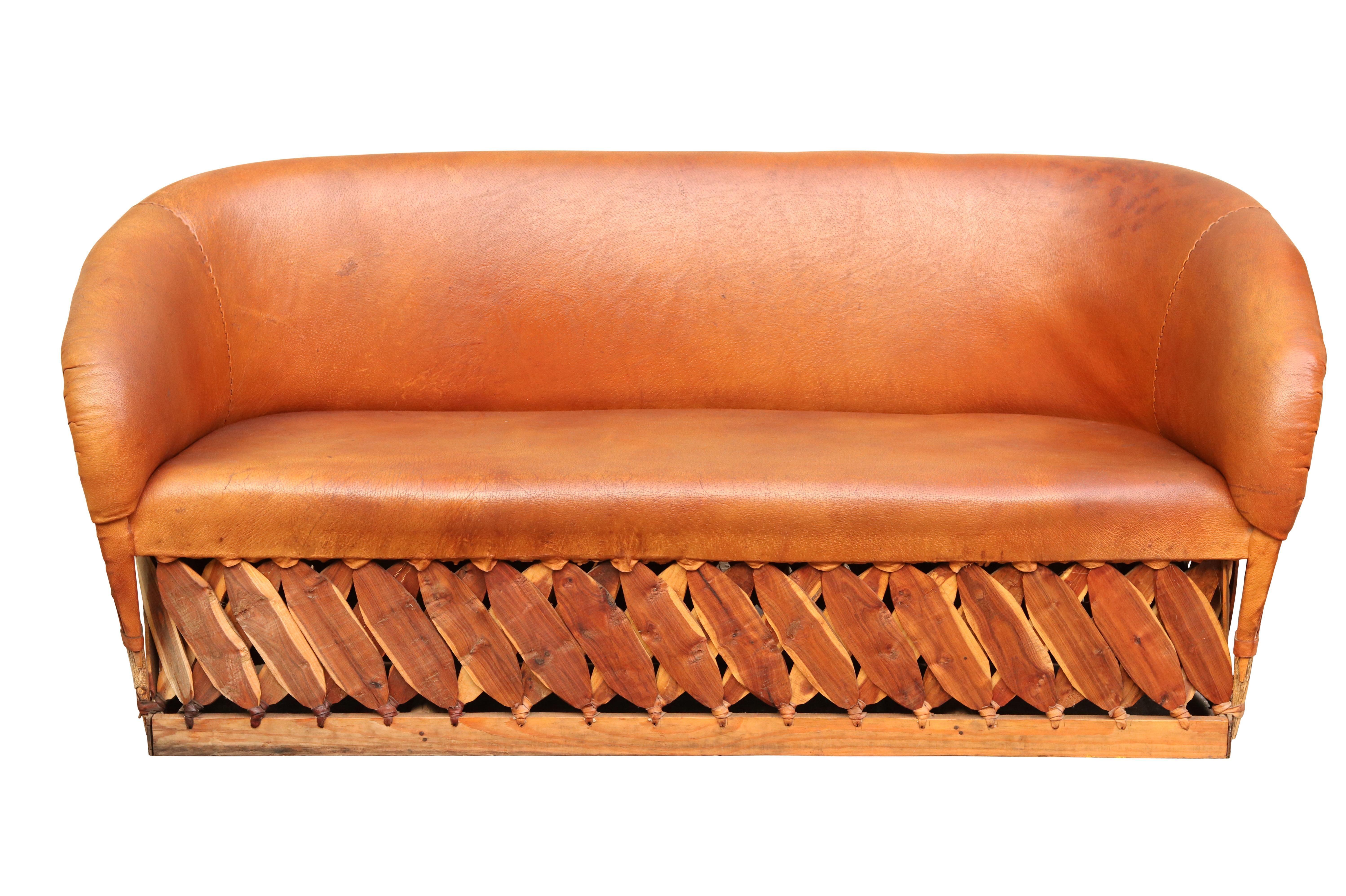 Best Burnt Orange Leather Equipale Sofa On Chairish Com Sofa 400 x 300
