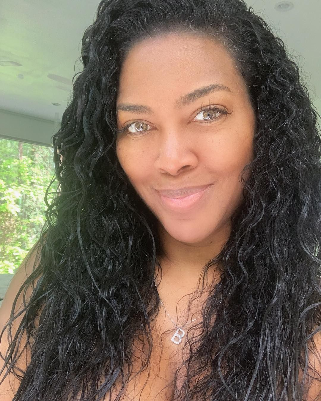Kenya Moore's Natural Hair Texture Without Relaxer