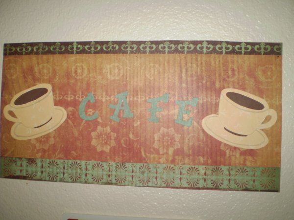 Second in the set of wall prints I created with scrapbooking papers.