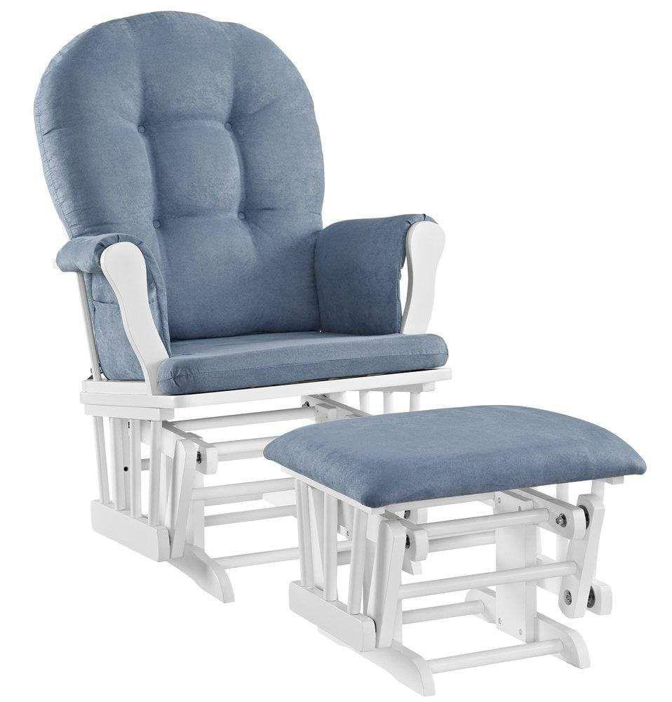Glider rocker nursery chair white with blue in 2020
