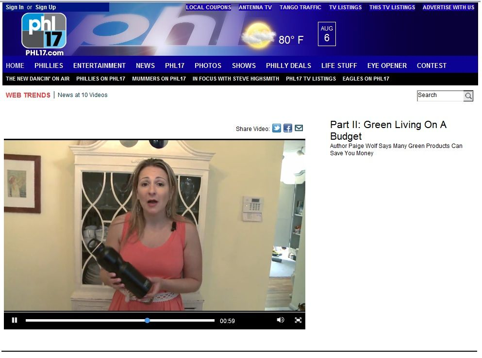 """MyPhilly News featured Ecobottle for its """"Green Living on a Budget"""" story!"""