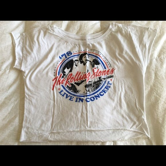 """Rolling Stones shirt - M - Very cool Rolling Stones shirt. Size M. 16.5"""" long and 18.5"""" width. Worn only once Tops Tees - Short Sleeve"""