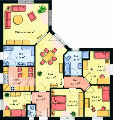 Traumhaus grundriss bungalow  Einfamilienhaus_individuell-geplant--Grosser-Winkelbungalow--wwwjk ...