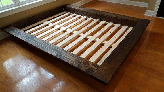 Floating Platform Bed Wide Ledge Bed Loft Bed Low Profile Bed