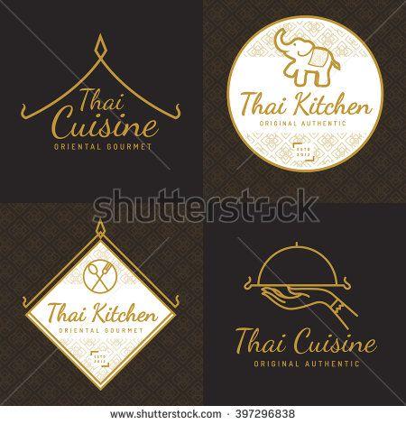Thai Restaurant Logo Flat Vector Design Google Search การ