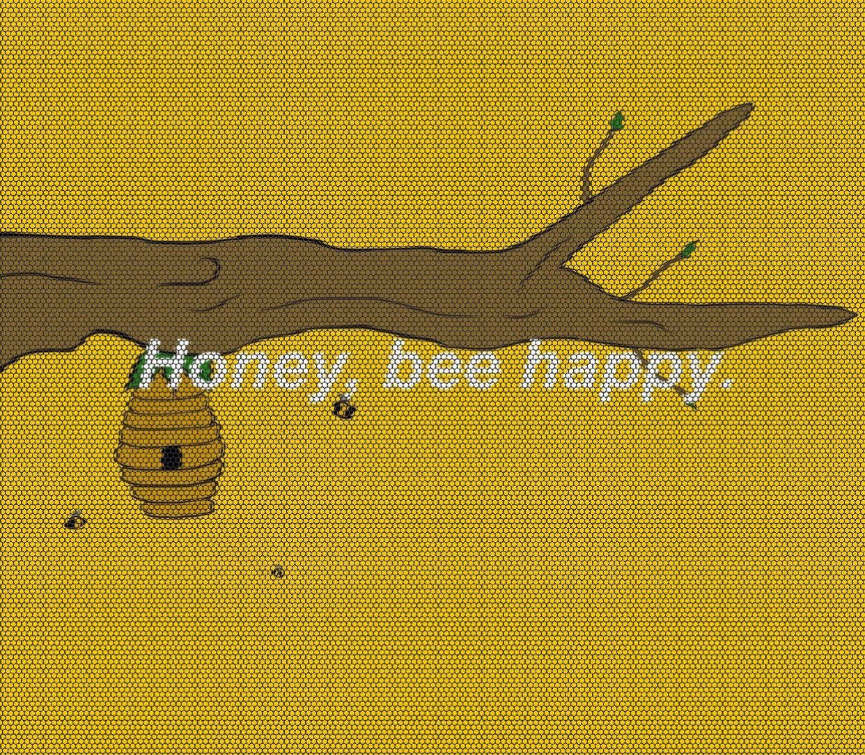 Milk And Honey Quote Wallpapers Honeybee Bee Yellow Aesthetic Background Edit