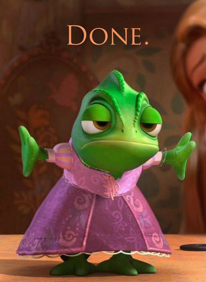Pascal Finds A Moment Of Shame In The Tower Disney Sidekicks Disney Tangled Pascal Tangled
