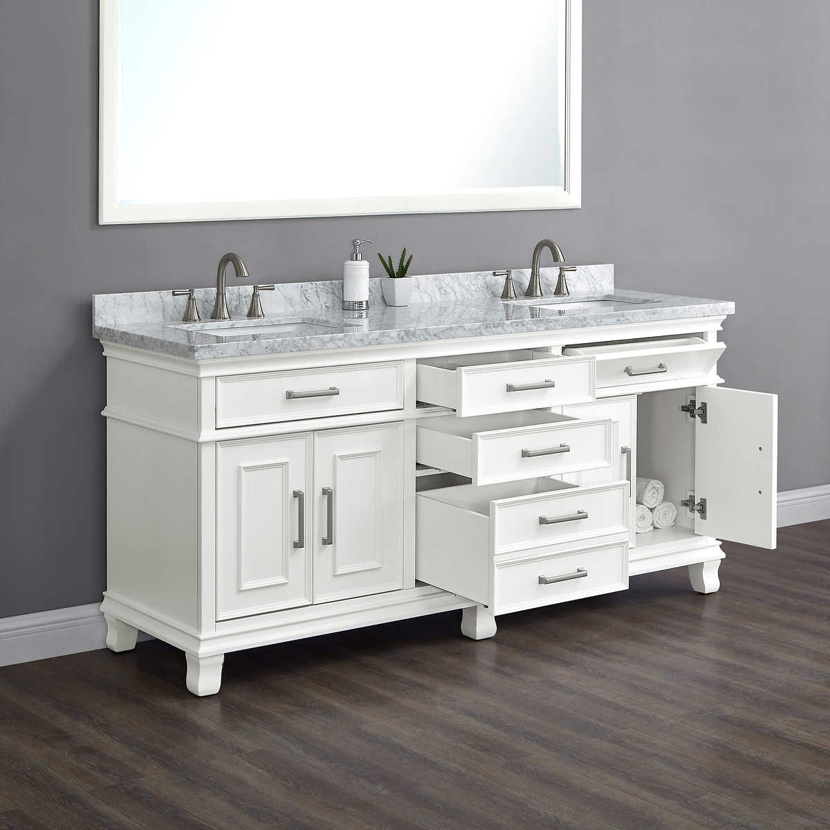 Brayden 72 Double Sink Bath Vanity By Mission Hills In 2020 With