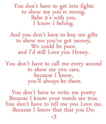 I Love You To Him Poems