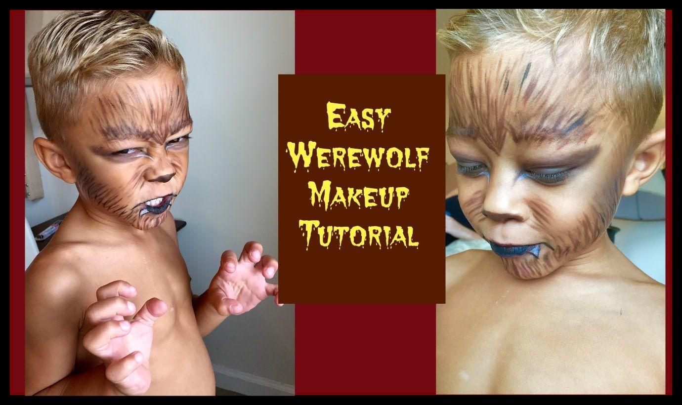Easy Werewolf Halloween Makeup Werewolf costume, Boys