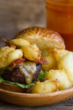 Western Bacon Sliders with Fried Cheese Curds