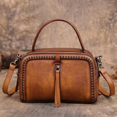Small Leather Handbag  Shoulder  Overbody Bag Tan