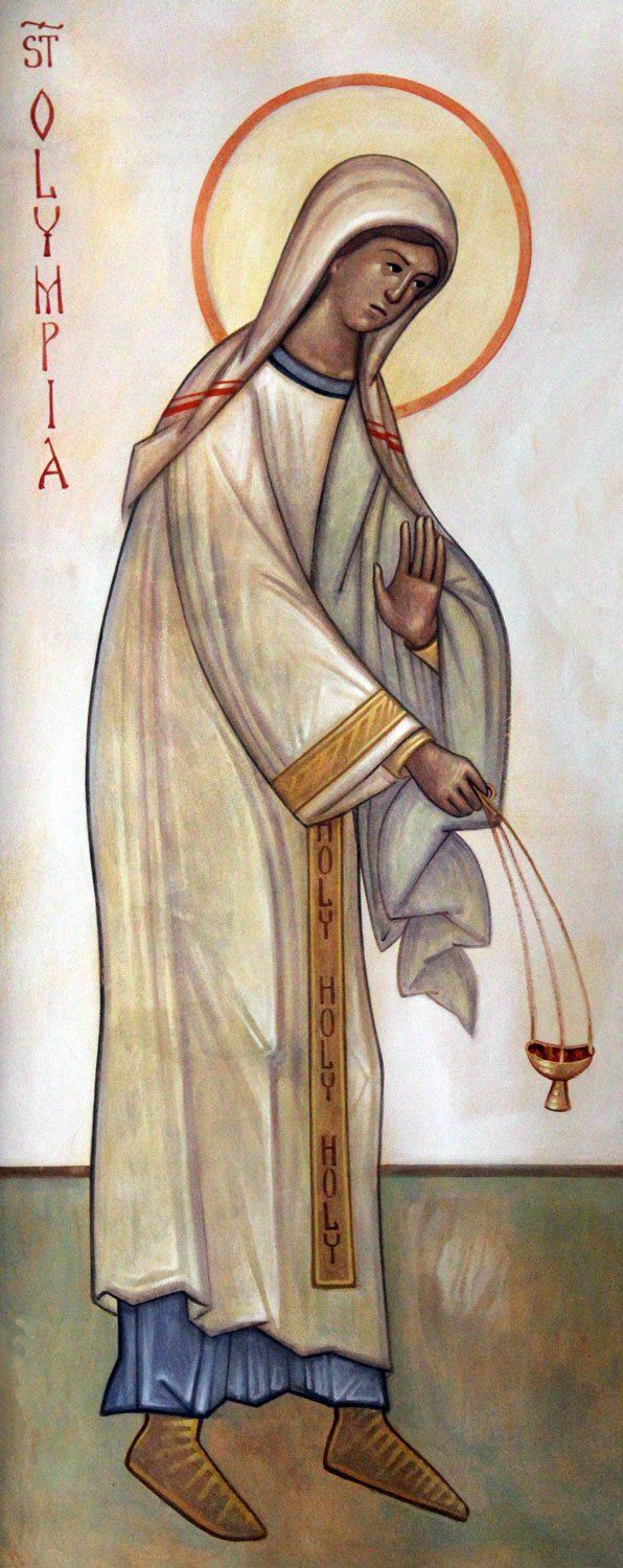 St. Olympia the Deaconess by Seraphim O'Keefe