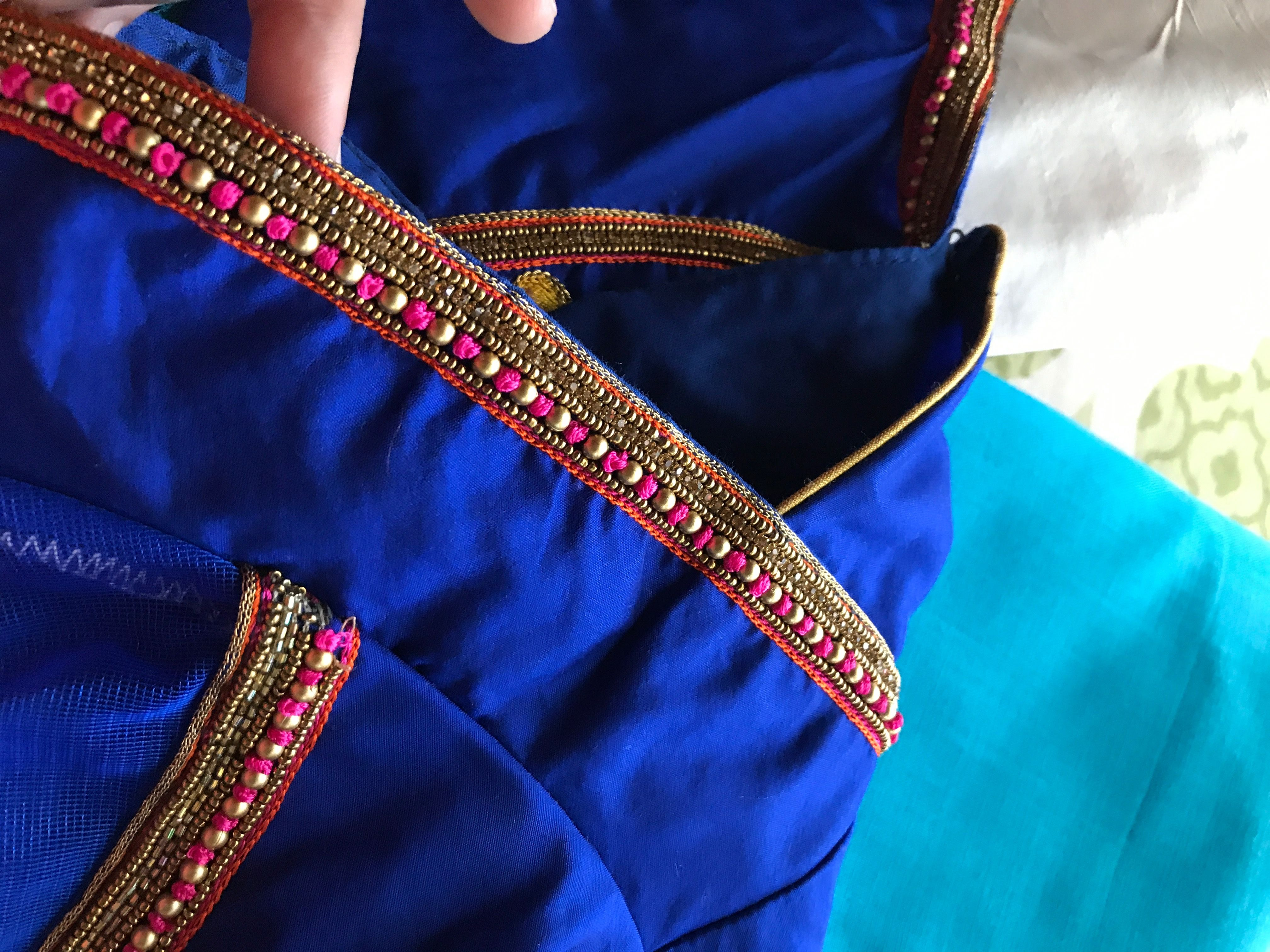 Simple Embroidery Work For Blouses Anlis