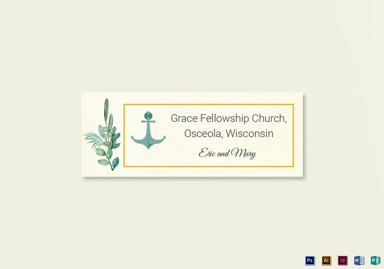 Nautical Wedding Address Labels Card Template  Wedding Invitation