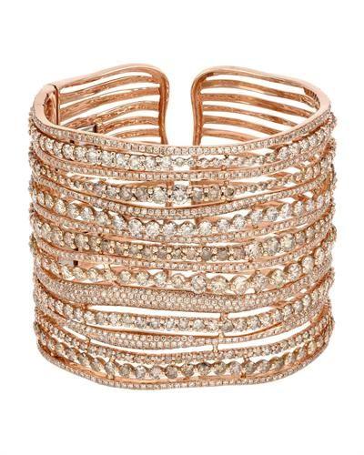 14K Rose Gold Bracelet with 30.02 CTW Diamonds