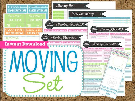 INSTANT DOWNLOAD Moving Planner- Editable Moving Printables-8 Pdf ...
