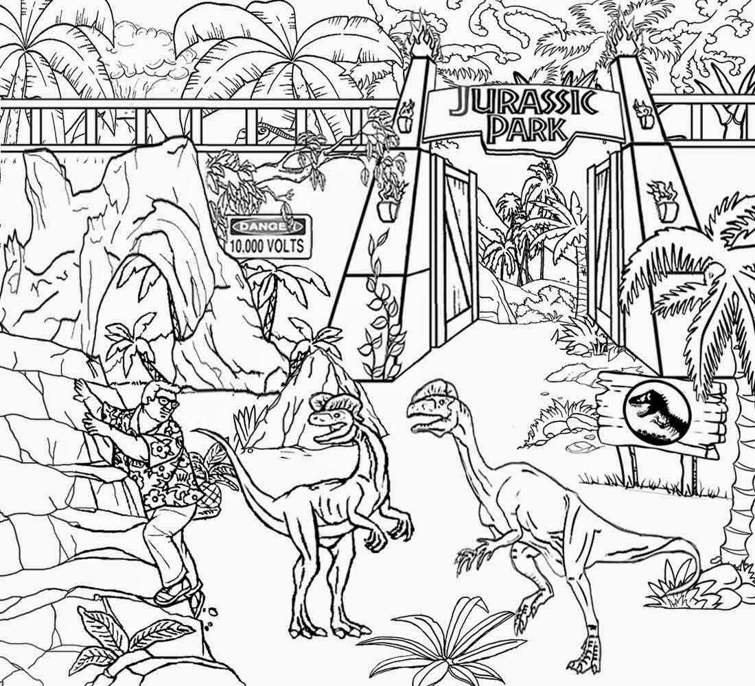 Gratis malvorlagen jurassic park Coloring and Malvorlagan
