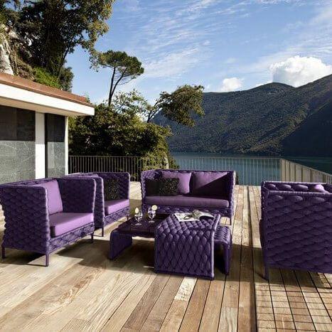 Meble ogrodowe Crochet - unikalny zestaw wypoczynkowy taras salon - lounge gartenmobel gunstig